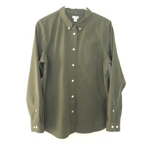 LL Bean Medium Long Sleeve Button Front Shirt